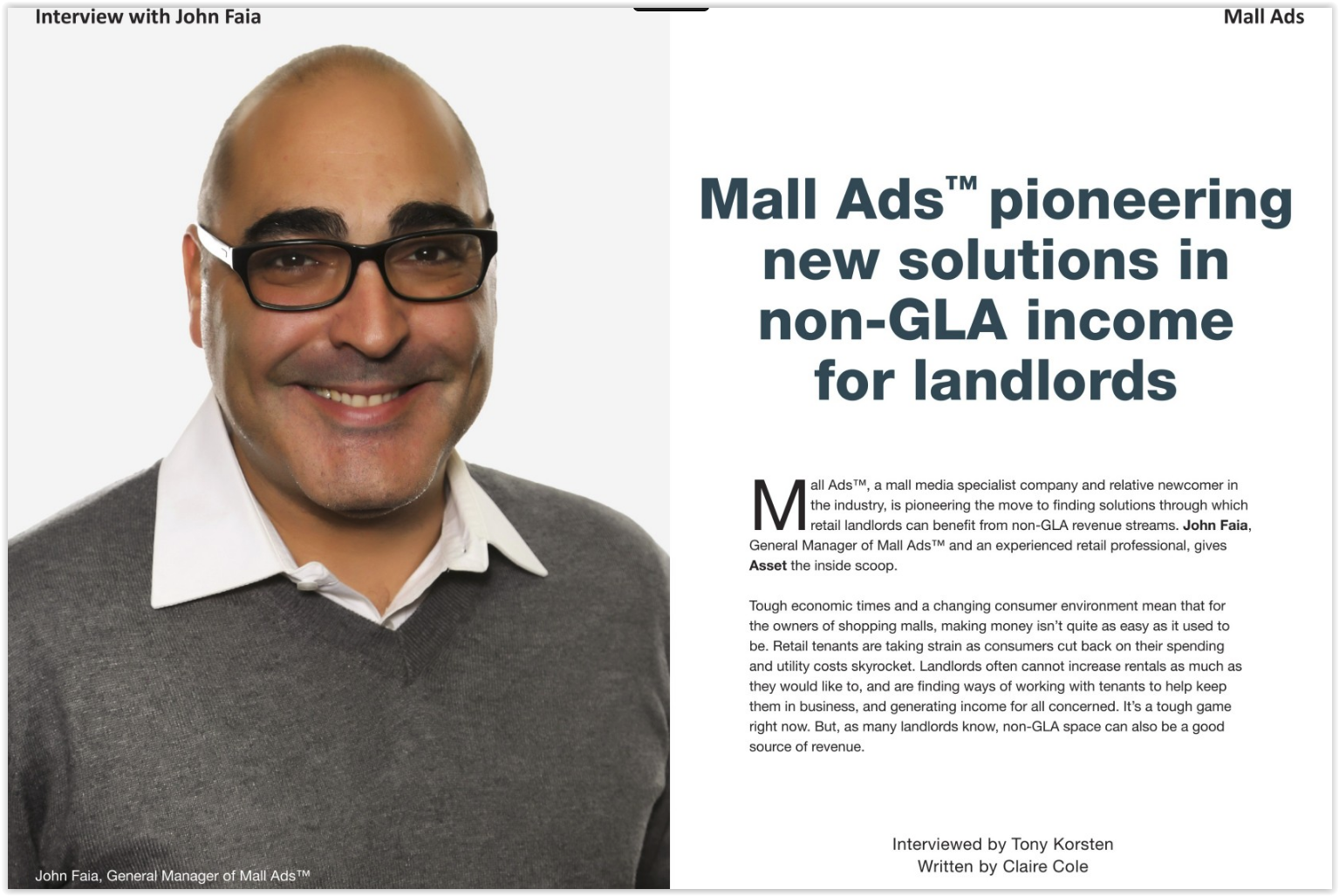 Mall Ads pioneering new solutions in non-GLA income for landlords