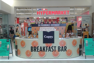 Cappy activates at East Point with Mall Ads